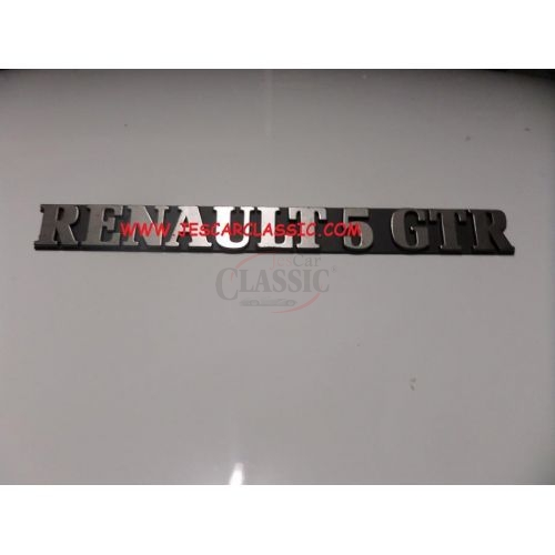 Renault Super 5- Emblema traseiro (RENAULT 5 GTR)