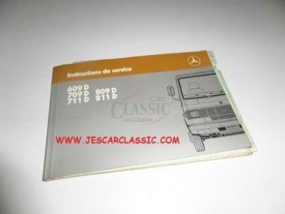 Mercedes-Benz T2 - Manual do condutor (609 D/709 D/711 D/809 D/811 D Instructions de service)