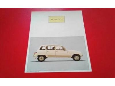 Renault 4 - Panfleto de lançamento