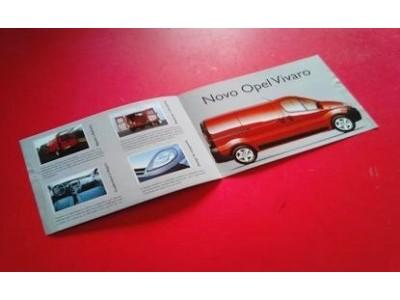 Opel Vivaro - Catálogo de lançamento