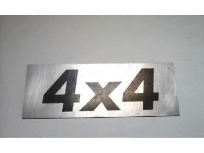 Aplicação Desconhecida - Emblema (4x4)