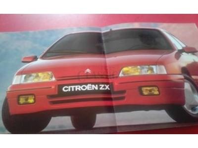 Citroen ZX- Catálogo de lançamento