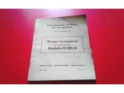Compressor - Manual de instruções (Mod. D 201-R)