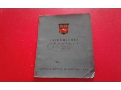 Manual de Informações Técnicas - (GENERAL MOTORS Serviço - 1961)