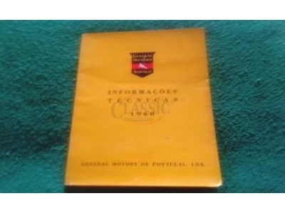 Manual de Informações Técnicas - (GENERAL MOTORS Serviço - 1960)