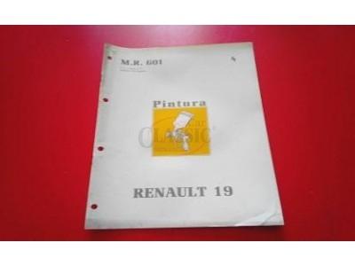 Renault 19 I - Manual de oficina (PINTURA)