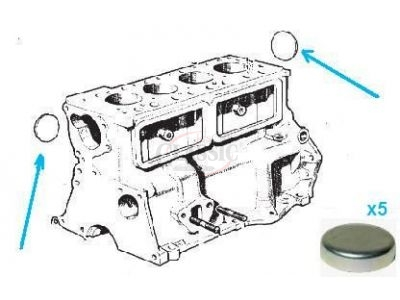 Mini 1275 - Rela do bloco motor (Ø 33.60)