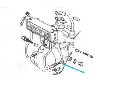 Citroen 2CV / Citroen Dyane - Vedante em borracha do radiador do óleo