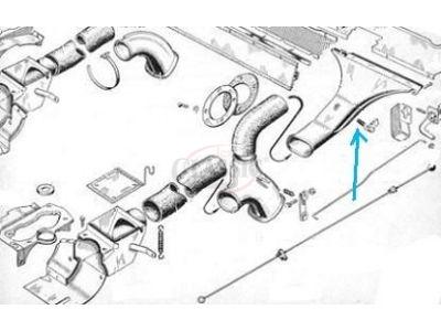 Citroen AK / Citroen 2CV - Mola do botão de comando ventilação