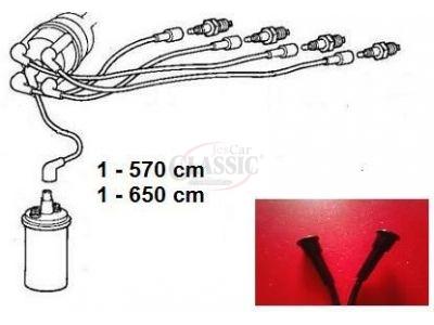 Citroen 2CV - Jogo de cabos vela