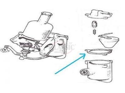 Mini - Junta da cuba do carburador (HS2, HS4)