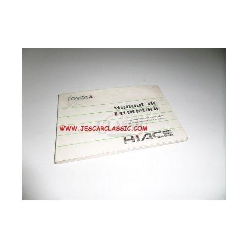 Toyota Hiace III (LH102) - Manual do condutor (Manual do proprietário)